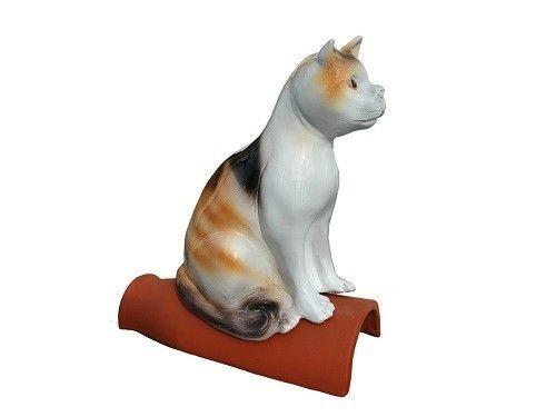 Purr Dachfigur Firstschmuck Firstfigur Dachschmuck 40 cm Katze bunt