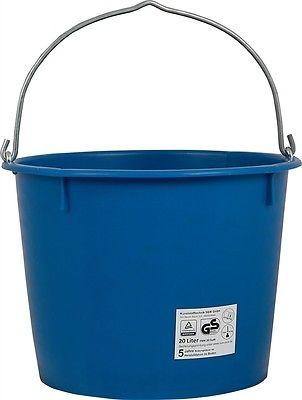 Baueimer aus Kunststoff, 20 Liter, verstärkt, kranbar, blau