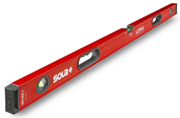 SOLA Alu Wasserwaage Big Red 3 Waage 150 cm mit 2 Handgriffen und 3 Libellen