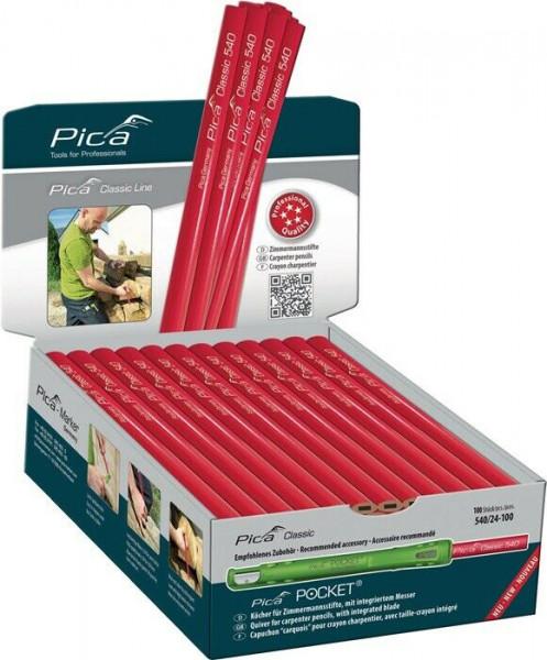 Pica 100 x Zimmermannsbleistift Zimmermannsstift 540 Zimmerer Bleistift 30 cm
