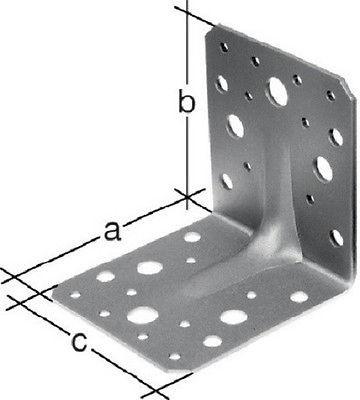 10 Stück Winkelverbinder mit Sicke 90x90x65 mm