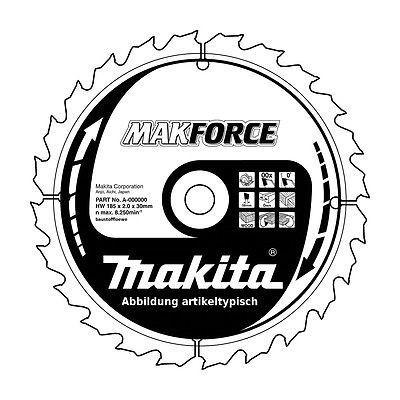 Makita Kreissägeblatt MakForce 165 x 20 mm, Holz-Sägeblatt 10 Zähne, B-32100