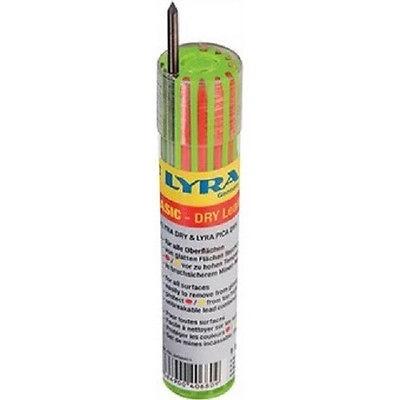 LYRA 12 Stück bunte Ersatzminen für Baumarker Graphitmine für Holz, Metall,Glas