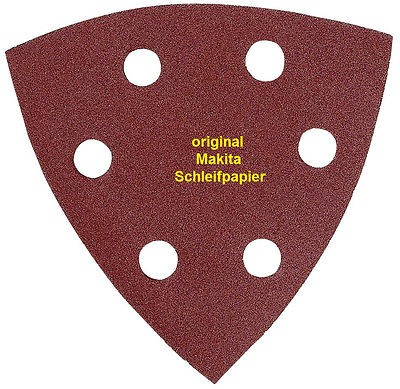 Makita Delta-Schleifpapier 95 mm, K 80, 10 Stück