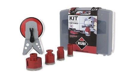 RUBI 4tlg. Winkelschleifer-Diamantbohrer Bohrkronen Diamantkronen für M14, 50917