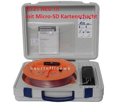Nivcomp Digital-Schlauchwaage mit mSD Nivelliergerät elektr. Schlauchwasserwaage
