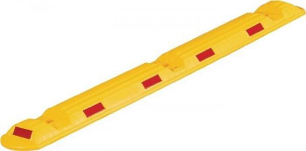 Leitschwelle L1170xB150xH50mm Polypropylencarbonat gelb mit roten Reflexstreifen