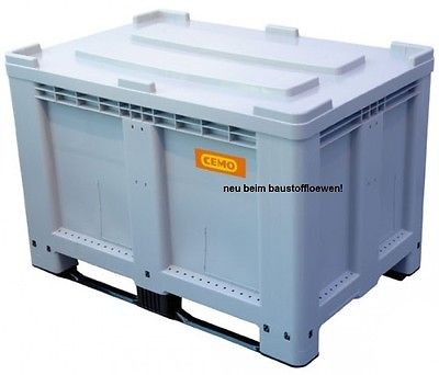 Logistikbox Transportbox Palettenbox 525 Liter m.Deckel