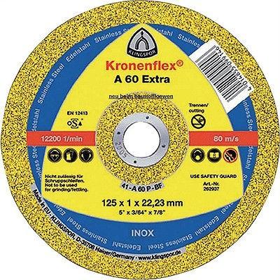 Klingspor A60 125 mm, 50 Stück Trennscheibe extra dünn Millimeterscheibe Stahl