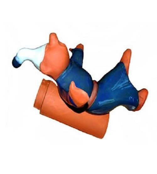 Purr Firstschmuck Dachrutscher blau, Firstfigur Dachfigur Dachschmuck 67 cm