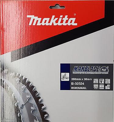 Makita Kreissägeblatt Makblade-Plus 260 x 20 mm Holz-Sägeblatt 60 Zähne B-32524