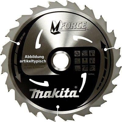 Makita TCT Kreissägeblatt M-Force 165 x 20 mm, Holz-Sägeblatt 24 Zähne, B-32007