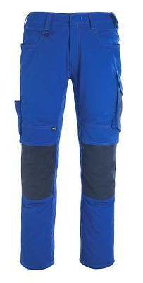 Mascot Hose Mannheim, Arbeitshose, Gr. 56, kornblau/schwarzblau, lange Hose