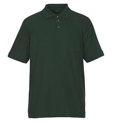 Mascot Polo -Shirt Borneo Gr. M grün Poloshirt mit Brusttasche und Knopfleiste