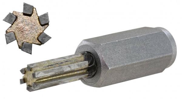 HM Fugenfräser Ø 10 mm 6-schneidig zur Fugensanierung für Winkelschleifer M14