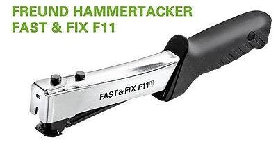 Freund Hammertacker FAST&FIX 11, Tacker, Folientacker mit Gürteltasche, 01741911