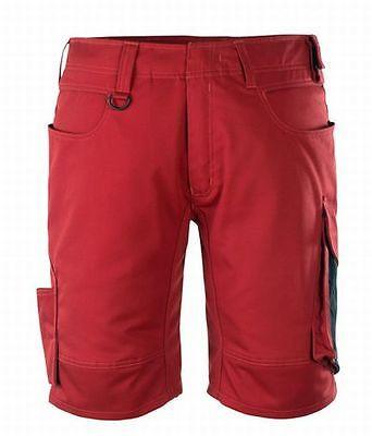 Mascot Shorts Stuttgart, Arbeitsshorts, rot/schwarz, Gr. 56, kurze Hose,Bermuda