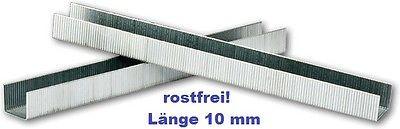 2500 Heftklammer Heftklammern Edelstahl rostfrei Typ 3, 53, 530, Länge 10 mm