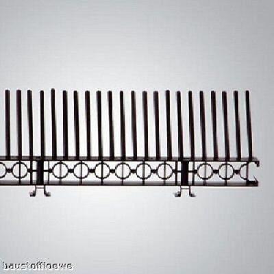 1 Meter Traufenlüftungselement mit Kamm, schwarz