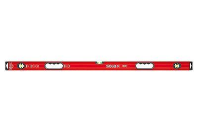 SOLA Alu-Wasserwaage Big Red, Länge 180 cm, mit 2 Handgriffen u. 3 Libellen