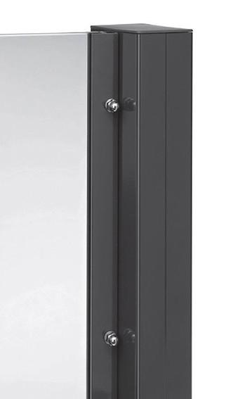 TEJEFLEX Aluminium Pfostensystem Glaselemente Sicht-und Windschutz zu T&J Vetro