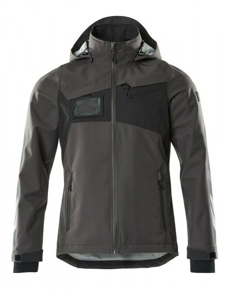 Mascot Hard Shell Jacke, Arbeitsjacke, Größe M, dunkelanthrazit/schwarz