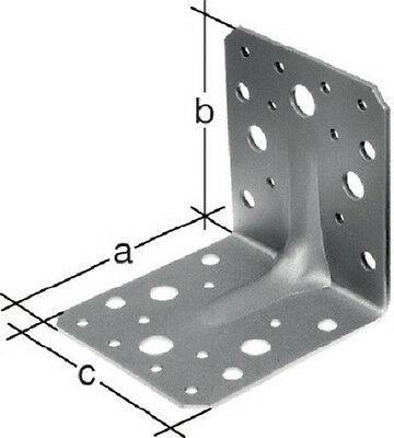 50 Stück Winkelverbinder Schwerlastwinkel Winkel mit Sicke 105x105x90x3,0 mm