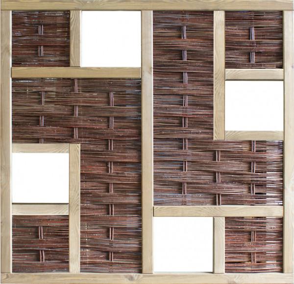 LABO 3D-Serie Weidengeflecht Zaun T&J ölbehandelte Weide Rahmen gebeizt