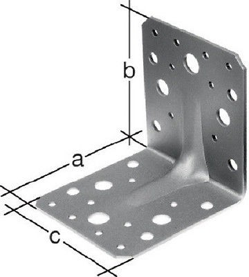 50 Stück Winkelverbinder Schwerlastwinkel Winkel mit Sicke 90x90x65 mm