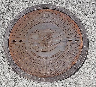Gully Kanaldeckel Schachtdeckel Klasse A15.50, Motiv Rheinland-Pfalz Wappen