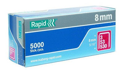 Isaberg-Rapid Heftklammer Tackerklammer 53/10, 5000 Stück, Typ 3, 53, 530 10 mm