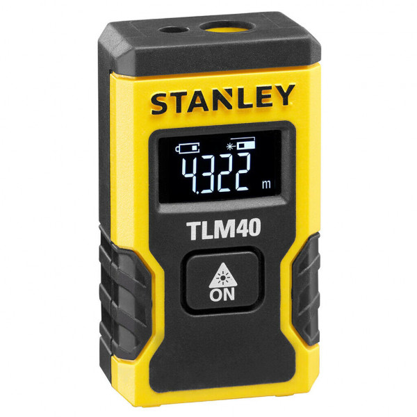 Stanley Laser Entfernungsmesser TLM40 bis 12m Entfernung Li-Ion Akku STHT77666-0