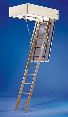 Wellhöfer Bodentreppe Dachbodentreppe Stahlblau 140x70 cm wärmegedämmt