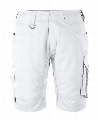 Mascot Shorts Stuttgart, Arbeitsshorts, weiß/anthrazit, Gr. 50, kurze Hose