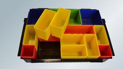 Makita Boxeneinsatz mit farbigen Boxen Makpak P-83652, Einlage für MAKPAC