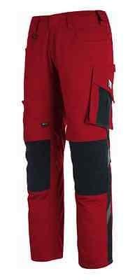 Mascot Hose Mannheim Arbeitshose rot/schwarz lange Hose