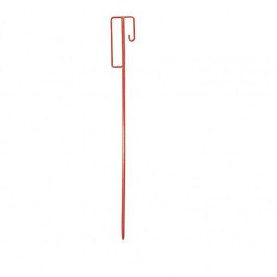 10 Stück Absperrleinenhalter Leinenhalter Laterneneisen Absperrhalter rot UVV