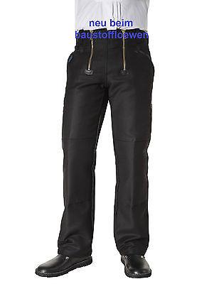 Pionier Zunfthose schwarz ohne Schlag, Arbeitshose Handwerkerhose 305