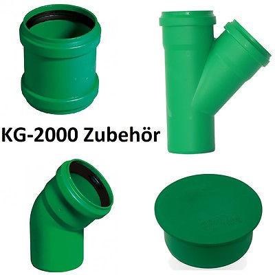 KG 2000 Bogen Abzweiger DN 100 125 150 Reinigungsrohr PP Kanalrohr Zubehör
