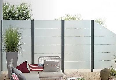 Glaszäune T&J Wind- und Lichtschutzelemente VETRO ESG-Sicherheitsglas Garten