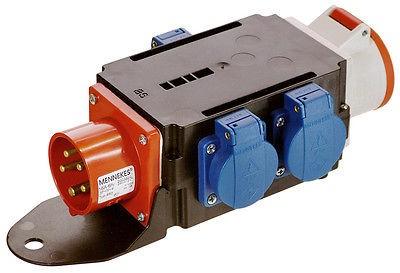 Stromverteiler MIXO Starkstromverteiler, CEE 16 A + 3 x Schuko, Schwabe 60520
