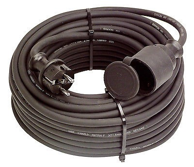 Gummi-Verlängerungskabel Verlängerungsleitung Gummikabel 10 Meter, Schwabe 60371