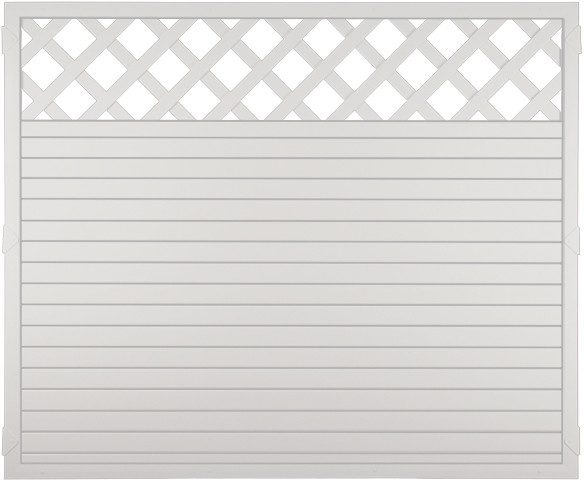 Sichtschutzzaun Lightline-Serie Kunststoff mit Rankgitter