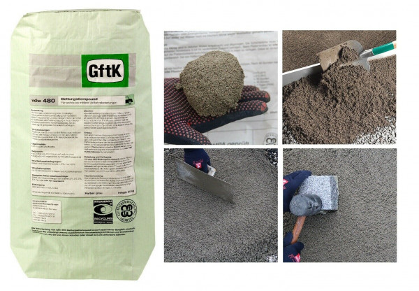 GftK Bettungs-Compound vdw 480, 25kg für drainfähigen Bettungs Plastermörtel