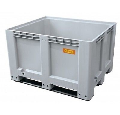 Logistikbox Transportbox Palettenbox 610 Liter o.Deckel 8085