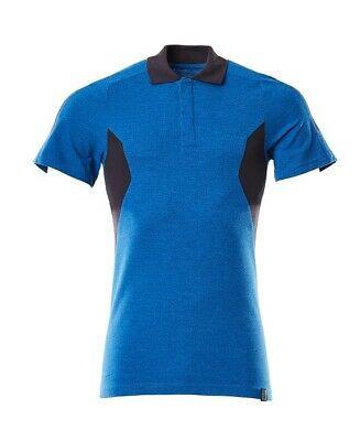 Mascot Polo - Shirt Gr. L azurblau/schwarzblau Polo-Hemd Accelerate