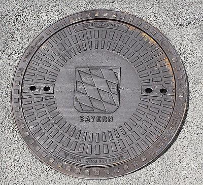 Gully Kanaldeckel Schachtdeckel Klasse A15.50 mit Motiv Bayern Wappen