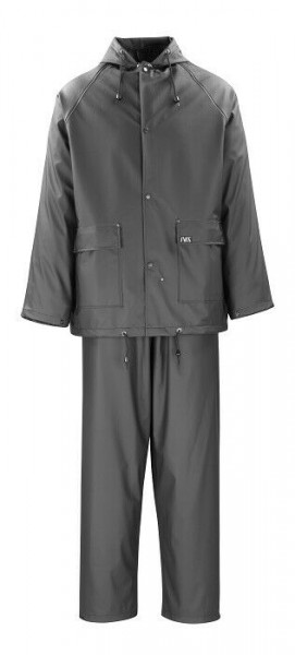 MacMichael Pavao Regenschutzset schwarz, Größe L, Regenschutzjacke Regenhose