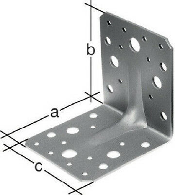 10 Stück Winkelverbinder Schwerlastwinkel Winkel mit Sicke 105x105x90x3,0 mm
