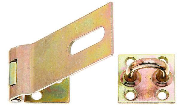 Sicherheits Überfalle Schloß Türschloß Verschluss 37mm gelb verzinkt GAH 348366
